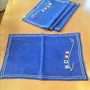 Christian Dior Blue Flag table mats.